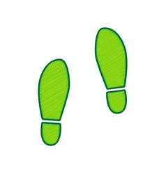 Imprint soles shoes sign lemon scribble vector