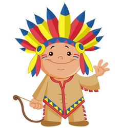 indian kid vector image vector image