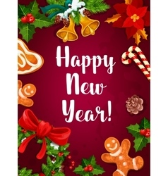 New year winter holidays poster vector