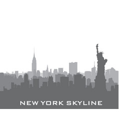 new york usa skyline american city silhouette vector image vector image