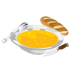 Plate with soup vector image vector image