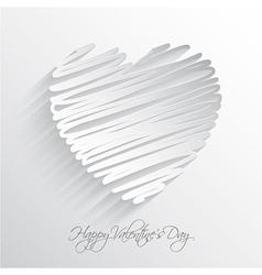 Scribble heart vector