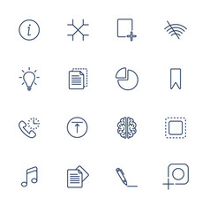set with different ui icons vector image vector image