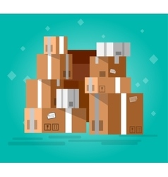 Stacked sealed goods vector