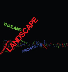 Thailand landscape architect text background word vector