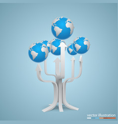 tree with arrows earth vector image vector image