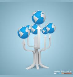 Tree with arrows earth vector