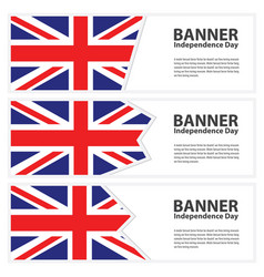 united kingdom flag banners collection vector image vector image