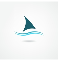 sail icon vector image