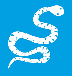 Snake wriggling icon white vector
