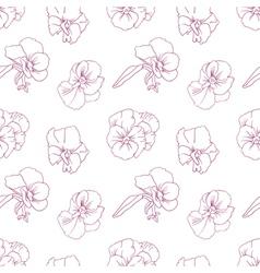 Elegant floral wallpaper vector image