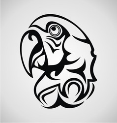 Parrot bird tribal vector