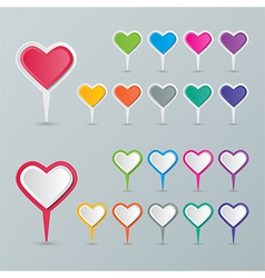 Heart map pointer vector