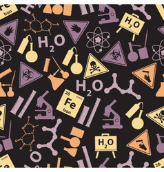 Chemistry color icons dark pattern eps10 vector