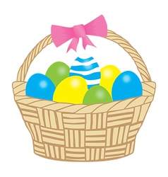 Basket easter vector