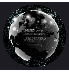 Music album cover templates world globe global vector