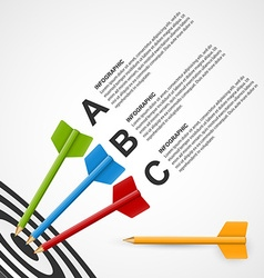 Abstract education infographic template target vector