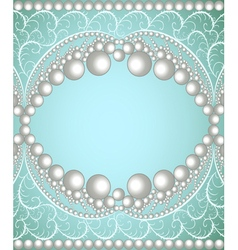 Background with a band of pearls vector