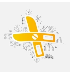 Drawing business formulas scissors vector