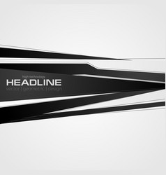 abstract black and white corporate background vector image