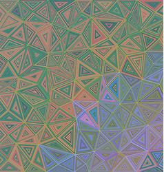 Abstract triangle puzzle pattern background vector