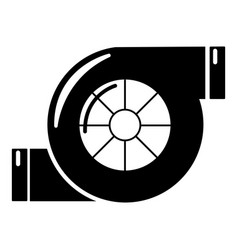Air filter icon simple black style vector