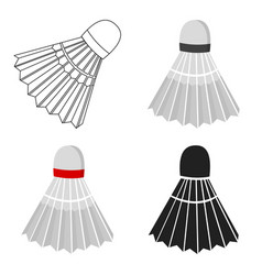 badminton icon cartoon single sport icon from the vector image vector image