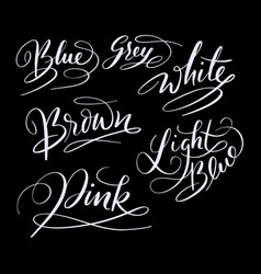 Blue color hand written typography vector