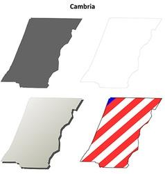 Cambria map icon set vector