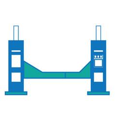 Car lifting machine vector