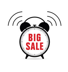clock with big sale vector image vector image