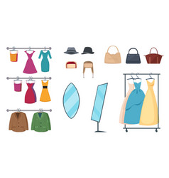 clothing store icon set vector image vector image