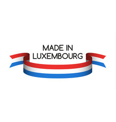 Colored ribbon with the luxembourg tricolor vector