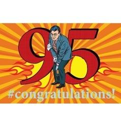Congratulations 95 anniversary event celebration vector image vector image
