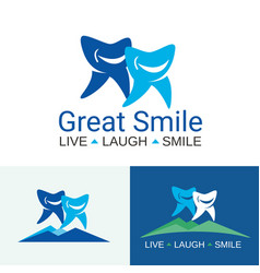 Dental care great smile vector