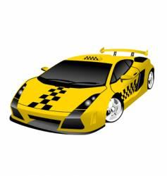 fantastic taxi vector image vector image