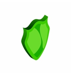 Green shield icon isometric 3d style vector image