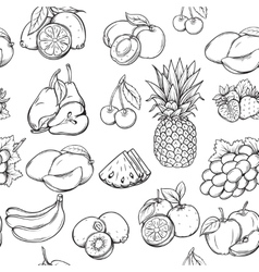 Hand draw fruits pattern vector image vector image