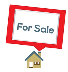 Home For Sale vector image vector image