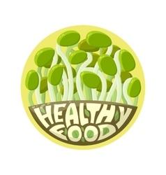 Logo healthy food sprouts vector