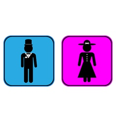 Male and Female buttons vector image vector image