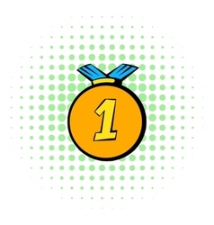 Medal icon comics style vector image vector image