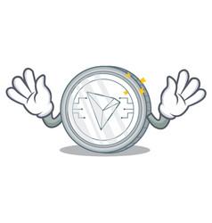 Mocking tron coin character cartoon vector