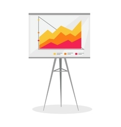 Presentation Screen with Stock Lines Isolated vector image vector image
