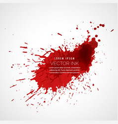red ink splatter vector image
