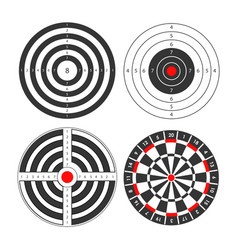 Shooting range targets icons template for vector