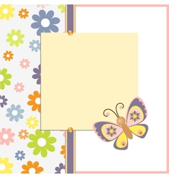 Template for spring easter postcard vector image vector image