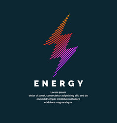the sign of the energy the colored zipper of the vector image vector image