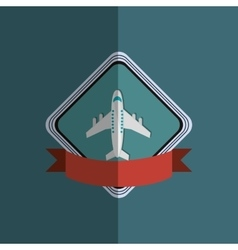 airplane emblem with banner image vector image