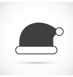 Santa claus hat icon flat vector image